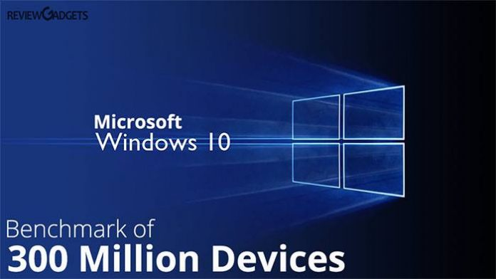 Windows 10 crosses the benchmark of 300 Million Devices. Microsoft window 10 is compatible for laptops, smartphones, Xbox One. Buy Win now 10 at $199/-