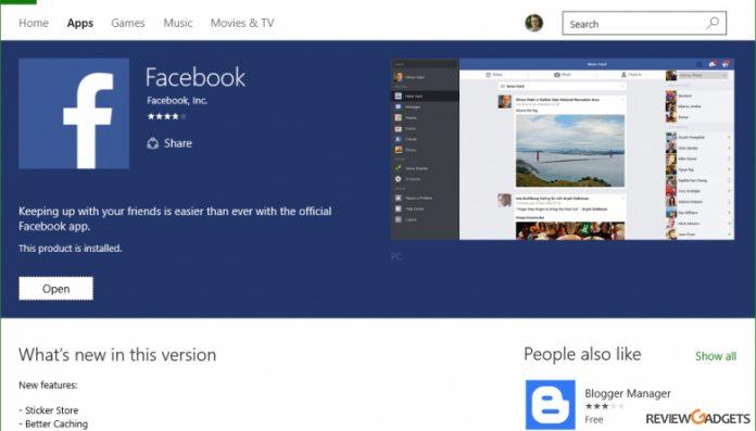 Facebook App for Windows 10