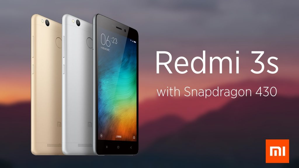 Xiaomi Redmi 3s runs on Qualcomm Snapdragon 650